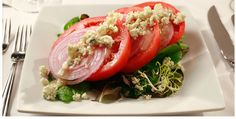 Sliced tomato and onion salad - Ruth's Chris Steakhouse