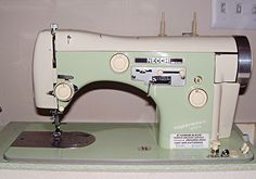 Vintage Necchi sewing machine (this is a 1958 Supernova Ultra). The old ones were still made in Italy.