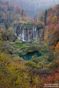 Stunning waterfalls of Plitvice Lakes National Park, Lika, Croatia; travel and landscape photography by Alan Ferina
