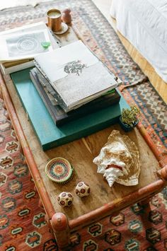 caracole light modern farmhouse: simple life sofa table. implistic