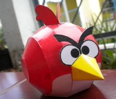 Angry Birds Red Paper craft #papercrafts #colorpaper