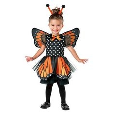 HAILEY: Infant/Toddler Monarch Butterfly Costume $24.99
