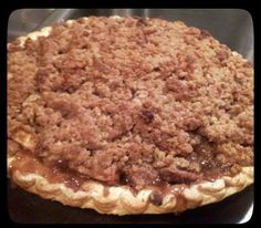 """Apple Pie With Crumbled Topping! 5.00 stars, 7 reviews. """"I LOVE my Apple Pie with Crumbled Topping!"""" @allthecooks #recipe #pie #dessert #apple #christmas #easy"""