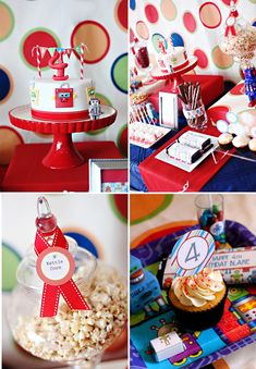 robot birthday | Modern Robot Birthday Party + Free Printables! // Hostess with the ...