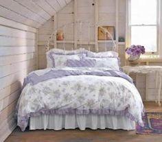 Camera da letto shabby shic - Piumino a fantasia per la camera da ...
