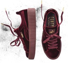 Rihanna x Puma continues with a Creeper in velvet and a new patent leather  one. f5f36d53c29