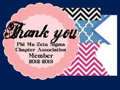 E-Thank you card for our dues paying members