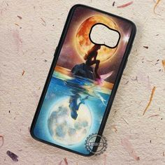 Starring At The Moon Ariel The Little Mermaid - Samsung Galaxy S7 S6 S5 Note 7 Cases & Covers