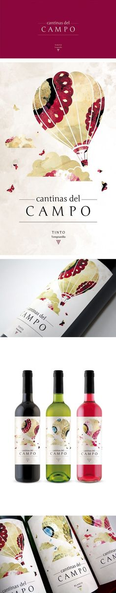 Wine label design · Cantinas del Campo by Giovanni Acquaviva:
