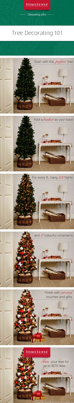 Enjoy these simple tips for decorating your tree and enjoy great savings on holiday trimmings from HomeSense. My Christmas Wish List, Christmas Holidays, Christmas Ideas, Xmas, Holiday Gifts, Christmas Gifts, Christmas Tree, Tree Decorations, Christmas Decorations