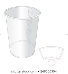 Paper Cup with Die Cut Template Cake Boxes Packaging, Printable Paper, Die Cutting, Stencil, Pottery, Printables, Templates, Ceramics, Android