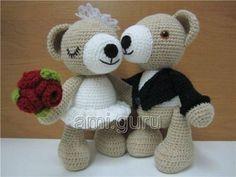 Amigurumi Patterns Bear : Cute bear wedding pdf crochet pattern pdf bears and crochet