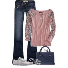 """""""Glitter and Converse"""" by tmlstyle on Polyvore"""