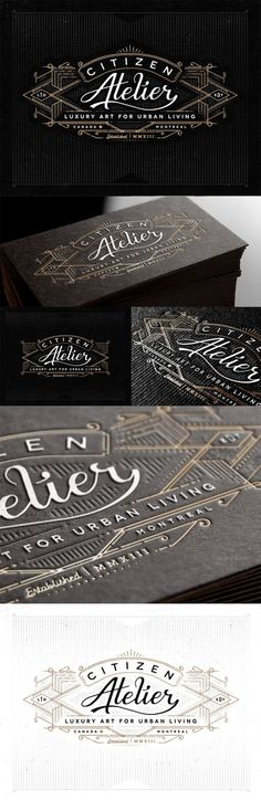 Vintage Typography And Styling On A Business Card For An Art Gallery