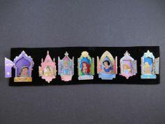 Disney Pins Set 7 Princess Hinged Windows Doors Ariel Belle Aurora Jasmine Tink | eBay