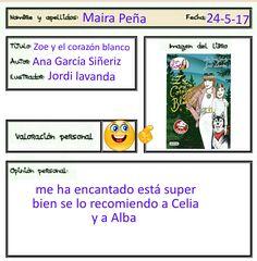 Maira ha superado el reto de leer un libro que le han regalado