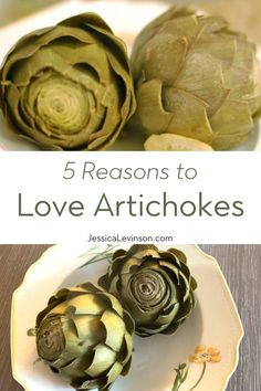 Spring is the season for beautiful artichokes, which are full of nutrition and flavor. Find out why you should love artichokes now! Healthy Side Dishes, Easy Healthy Recipes, Veggie Recipes, Real Food Recipes, Weight Loss Meal Plan, Weight Watchers Meals, Artichoke Recipes, Eat Seasonal, Health And Fitness Articles