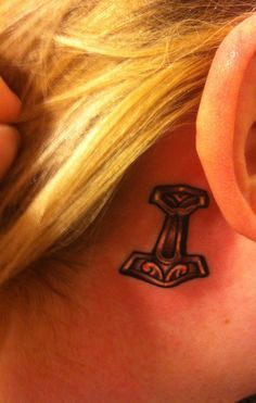 New tattoo. Thor's hammer for protection <3