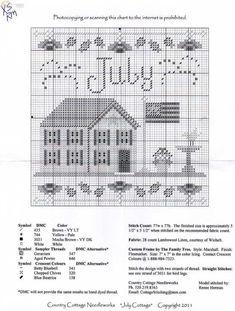 Cross Stitch Sampler Patterns, Cross Stitch Samplers, Cross Stitch Charts, Cross Stitch Designs, Cross Stitching, Cross Stitch Embroidery, Cross Stitch House, Cross Stitch Needles, Cross Stitch Gallery
