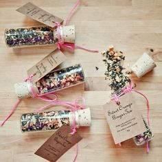Cute Wedding Favour Tea In Glass Bottle With Cork