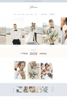 With Grace and Gold Wedding Website Design, Simple Website Design, Beautiful Website Design, Website Designs, Template Web, Story Template, Photography Website Design, Blog Design Inspiration, Wedding Album
