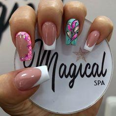 Cute Acrylic Nail Designs, Cute Acrylic Nails, Glitter Nails, My Nails, Home Nail Salon, Nails Design With Rhinestones, Pretty Nail Art, Nail Decorations, Stylish Nails