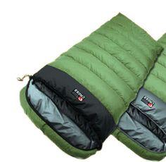CROSS Cold Weather sleeping bag Duck Down Camping Hiking Travel Sheet KhakiBlack