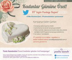 """Pasta Sanatından Kadınlar Gününe Özel Kampanya  """"RT'leyin Pastayı Kapın!"""""""