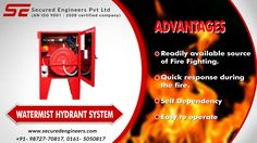#Watermist_Hydrant_Fire_Fighting systems can take on any kind of fire - even #electric. #Install these System at #cheapest #prices in your premises.