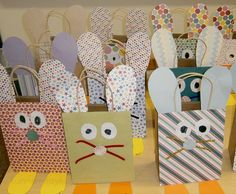 Adorable Easter bags the kids can help make!  These would be great to use when hunting Easter Eggs!!!!