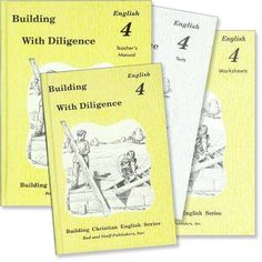 """2013-14, Emma Grade 4  I absolutely love the Rod & Staff English program.  It is comprehensive, complete and easy to present.  We are using Grade 3 this year with great success.  Grade 4 English """"Building With Diligence"""" Set"""