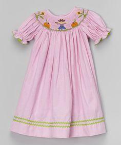 Loving this Pink Gingham Scarecrow Bishop Dress - Infant, Toddler & Girls on #zulily! #zulilyfinds