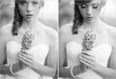 bridal session ideas -Ooh lilacs! My fav, too bad they won't be on season