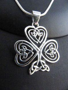 Celtic shamrock diamond pendant pendant necklace sterling pendant mother child pendant #pendants