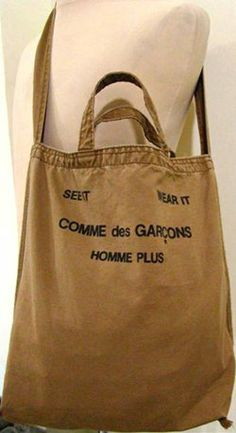 Comme homme tote in all canvas