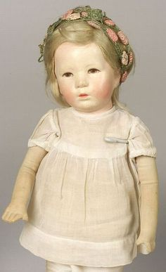 Cloth Kathe Kruse Girl Doll IX