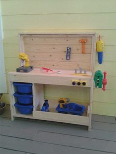 the babies new tool bench