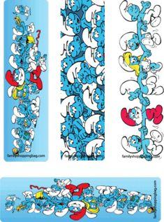 Smurf Bookmarks, Smurfs, Bookmarks - Free Printable Ideas from Family Shoppingbag.com