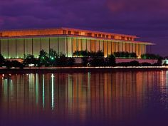 Kennedy Center for the Performing Arts, Washington, DC - I was lucky enough to work here in 1998 and loved every minute of it - it is a truly amazing place! Places To See, Places Ive Been, Washington Dc Area, Capitol Building, Concert Hall, Art And Architecture, How To Take Photos, The Good Place, National Parks