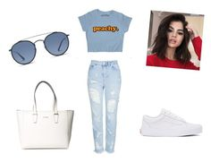 """""""#6"""" by diana99-99 on Polyvore featuring moda, Topshop, Vans, GUESS, Ray-Ban i 14"""