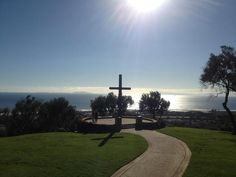Old missionary cross California Pacific ocean