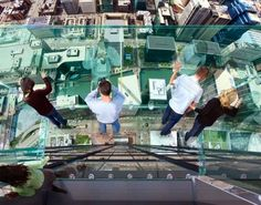 I balconi di vetro dello Sky Deck di Chicago!  I have been to Chicago, but have not done this