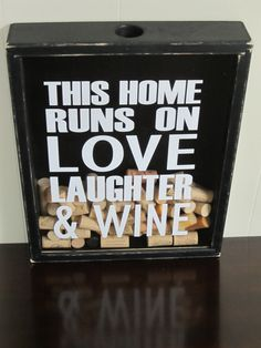 Handmade Wine Cork Collector Shadow Box This by AllyBoosCreations