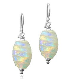 Sterling Silver Dichroic Glass Multi-Color Stripe Oval Bead Earrings Amazon Curated Collection, http://www.amazon.com/dp/B00387FQXI/ref=cm_sw_r_pi_dp_VJ6trb0E3F15N
