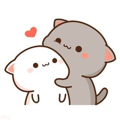 Cute Love Pictures, Cute Love Gif, Cute Cat Gif, Cute Images, Cute Kawaii Animals, Kawaii Cat, Kawaii Chibi, Cute Chibi, Kawaii Drawings