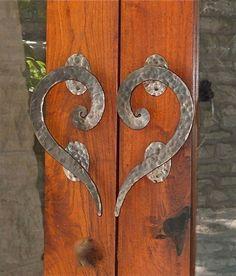 Custom Made Custom Iron Door Handle by Italian Iron Works