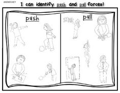 Worksheet Push And Pull Worksheets 4th grade science worksheets and on pinterest all around town push pull sort sheet for kindergarten first grade