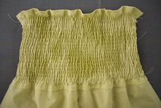 smocking/shirring tutorial (@Amanda Snelson Klein for a dress or less smocking for a skirt waistband)