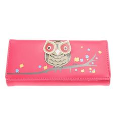 2015 New Arrival Fashion Owl Wallet PU Leather Purse Holder Long Cartoon Purses Lovely Women Wallets Free Shipping 1STL