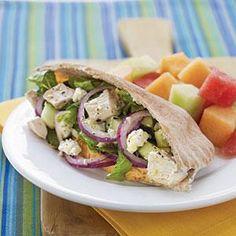 Greek Chicken Salad Pitas   MyRecipes.com